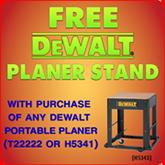 Free DeWalt Planer