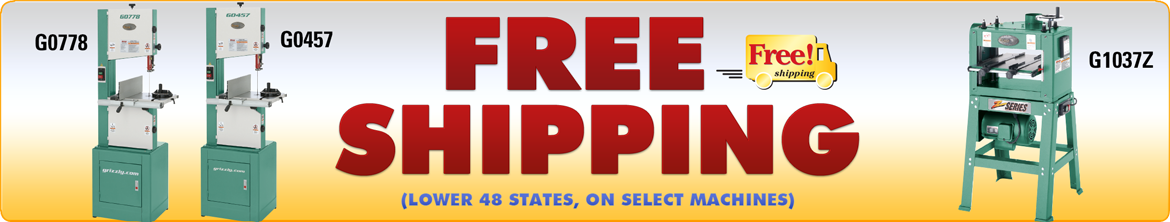 Free Shipping on Select Bandsaws!