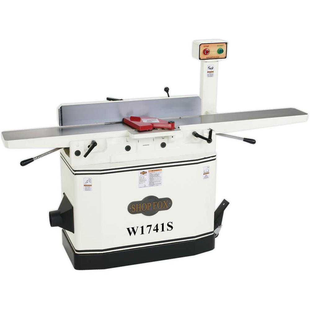 W1741s Shop Fox 8 Jointer With Adjustable Beds And Spiral Cutterhead