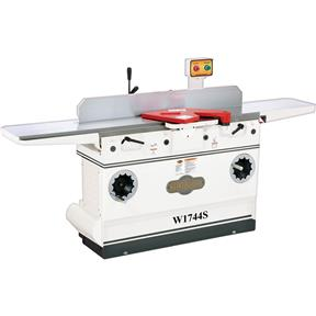 "W1744S — Shop Fox 12"" Heavy-Duty Jointer with Adjustable Beds and Spiral Cutterhead"