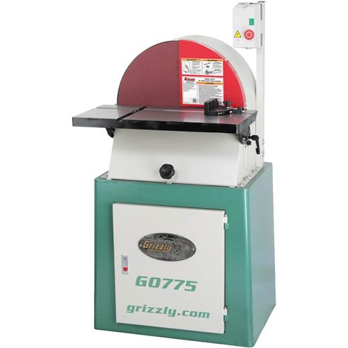 Once The 20 Cast Iron Disc Gets Spinning This Sander Means Serious Business Featuring A Powerful 2 HP Motor With Built In Brake For Quickly Stopping