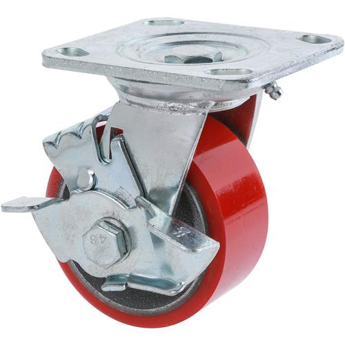 "Hand Caster For Sale: 4"" Heavy-Duty Swivel Caster W/ Brake"