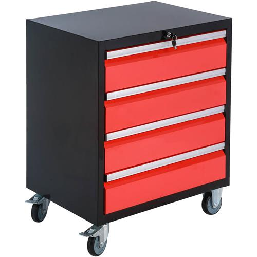 T27946 Grizzly Garage Storage 4-Drawer Rolling Tool