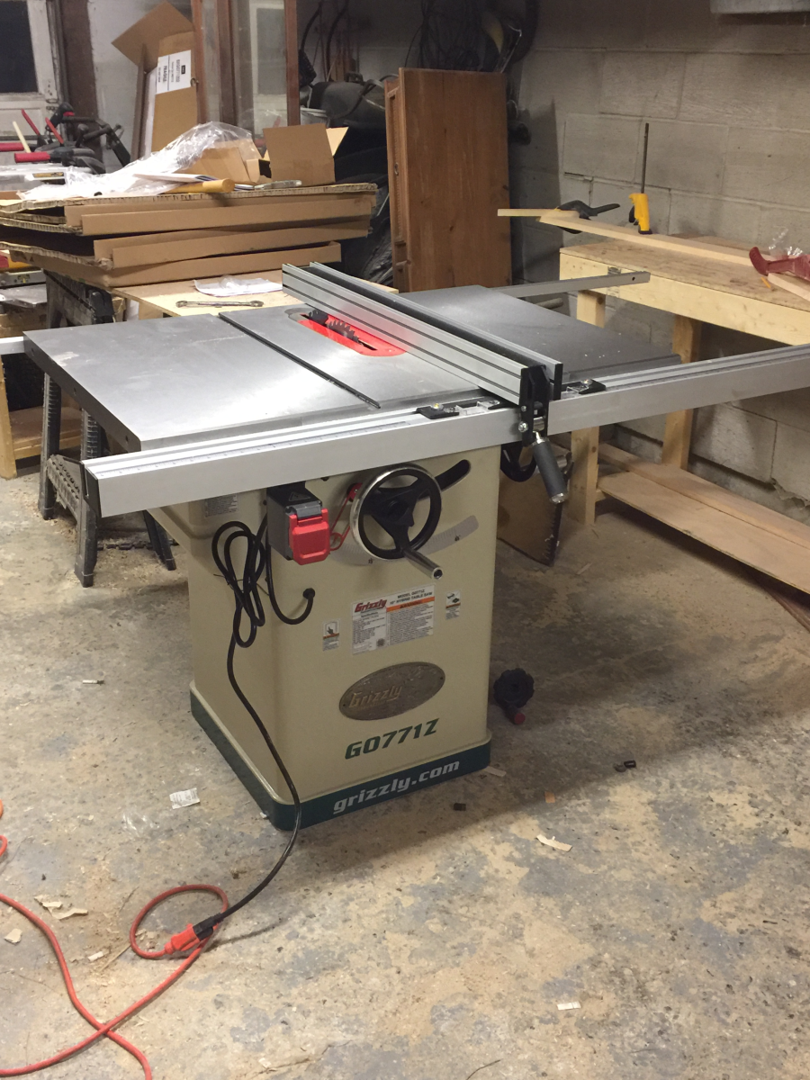 Outfeed Roller System For Table Sawswoodworking Bandsaw Review With Grizzly Saw Wiring Diagram 220 2 Hp 45