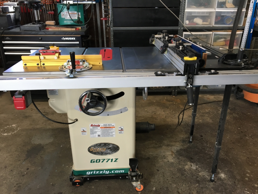 10 Hybrid Table Saw With T Shaped Fence Grizzly Industrial
